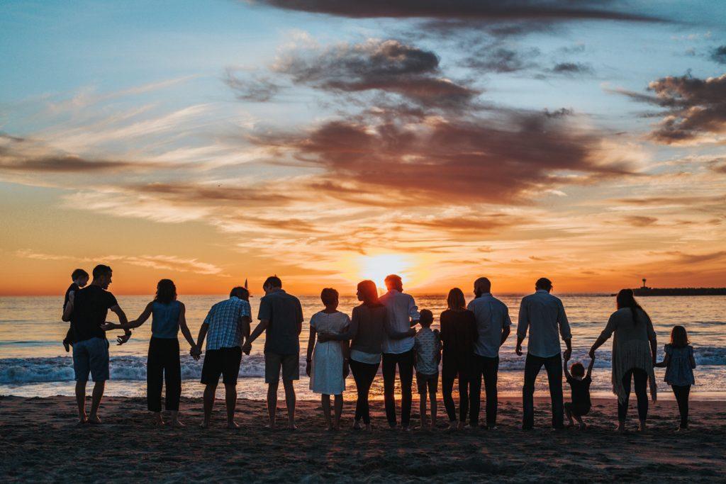 Familie Zugehörigkeit Strand familiäre Prägung